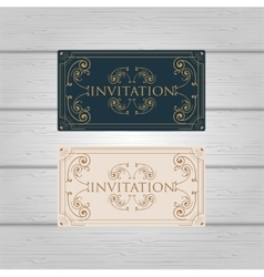 Vintage Ornament wedding invitation design vector image