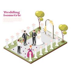 wedding ceremony isometric composition vector image