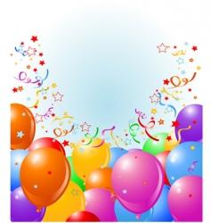 balloons border vector image vector image