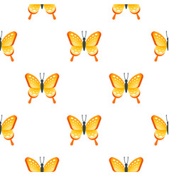 flat style seamless pattern with butterfly vector image vector image