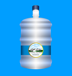 isolated minteral water bottle vector image