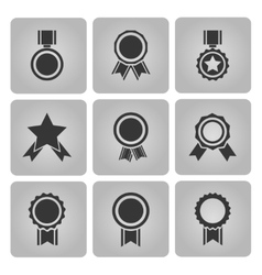 medal and award icons vector image vector image