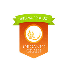 Natural organic grain vector