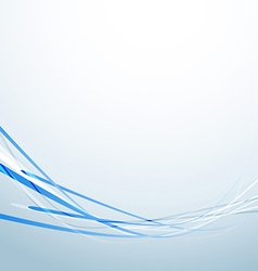 Blue speed lines business abstract background vector image
