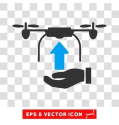 Load Drone Hand Eps Icon vector image