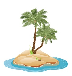 Palm Tree on Island4 vector image