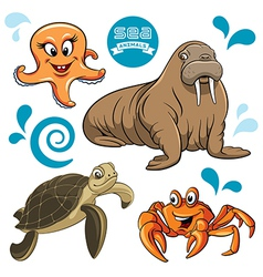 Sea Animals vector image