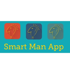 smart man application vector image