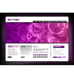 web template in the purple vector image vector image