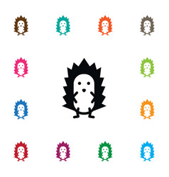 isolated spiny icon prickly element can be vector image vector image