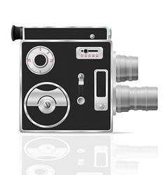 old retro vintage movie video camera 03 vector image vector image