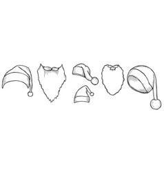 set of santas hats vector image
