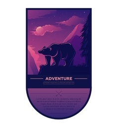 Vintage summer adventure outdoor hiking and vector image vector image