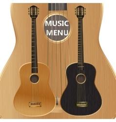 acoustic guitar closeup vector image