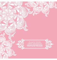 Elegance vintage card with place for text vector image