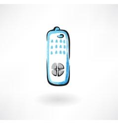 TV remote grunge icon vector image
