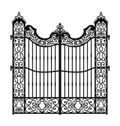 vintage swirled gate vector image vector image