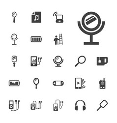 22 portable icons vector