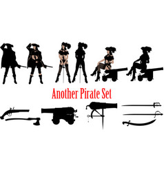 another pirate set vector image
