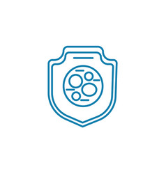 Antibacterial protection linear icon concept vector