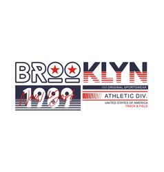 Athletic brooklyn new york brooklyn typography des vector