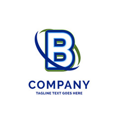 b company name design logo template brand name vector image