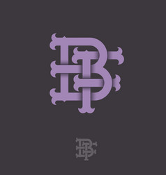 b f monogram vector image