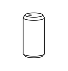 beer can outline icon vector image