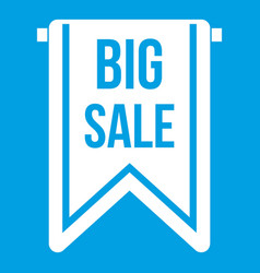 Big sale banner icon white vector