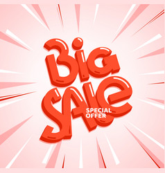 big sale special offer lettering inscription vector image