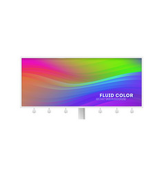 billboard with colorful liquid shape stream of vector image