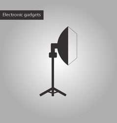 Black and white style icon professional lighting vector