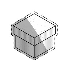 box delivery package vector image