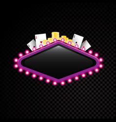 brightly theater glowing retro casino neon vector image