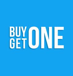 Buy one get one sign drop shadow winter sale vector