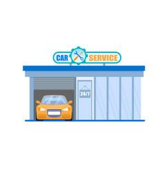 Car service garage maintenance 24 hour station vector