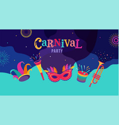 Carnival party rio carnaval purim background vector