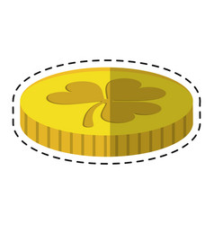cartoon st patricks day golden coin treasure with vector image