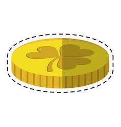 Cartoon st patricks day golden coin treasure with vector