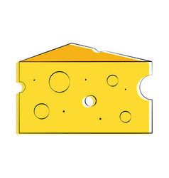 cheese slice icon imag vector image