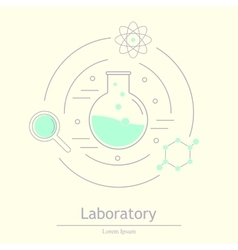 Chemicals and science icons vector