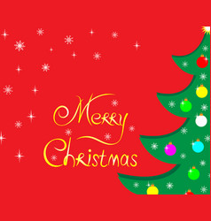 christmas tree greeting holiday card vector image