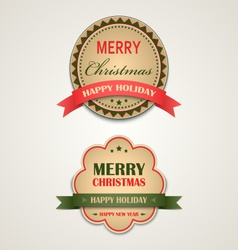 Christmas vintage retro design style element vector image