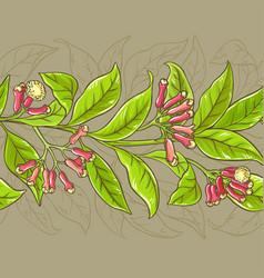 clove pattern vector image