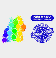 Colored mosaic baden-wurttemberg land map and vector