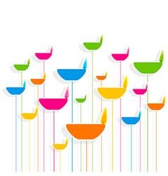colorful diya pattern bakground design vector image