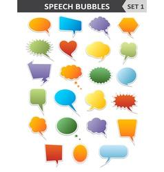 Colorful speech bubbles Set 1 vector image