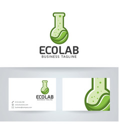eco lab logo design vector image