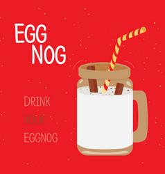 egg nog - christmas drink vector image