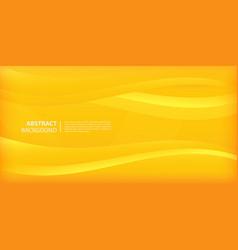 elegant waves and lines wallpaper in yellow gradie vector image